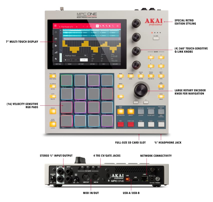 Akai Mpc One Retro Features