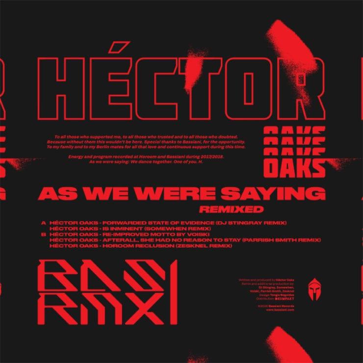 Basrmx01 Héctor Oaks As We Were Saying Remixed Packshot