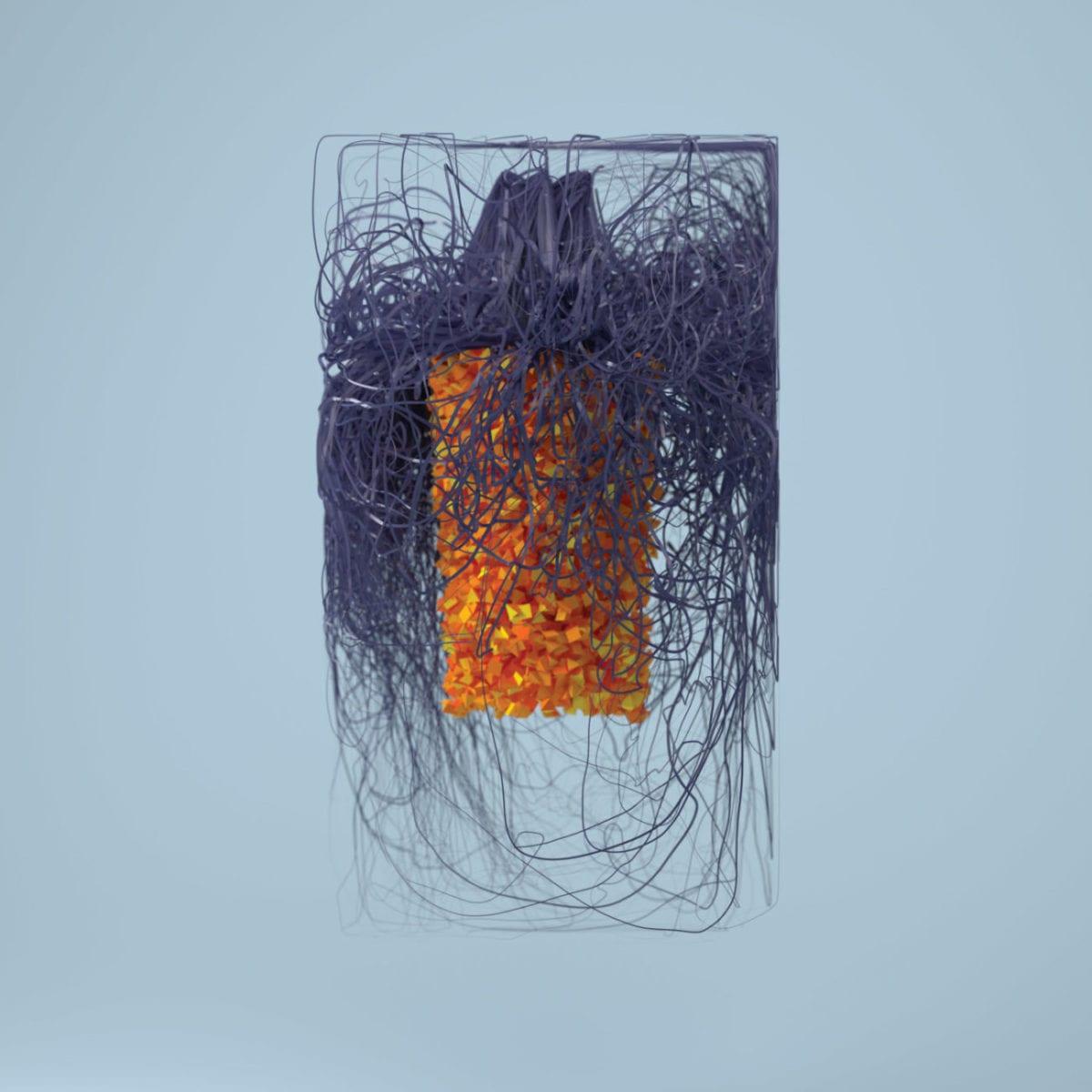 Plaid Polymer Artwork 3000